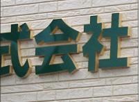 施工例カルプ文字看板・切り文字看板会社名がきれいに目立つおすすめのカルプ文字看板