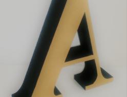 制作例カルプ文字・職人が一つ一つ切出すロゴ文字がとっても美しいカルプ文字