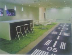制作例キッズスペースや休憩所などフロアシートを利用し、スペースを取らずに空間の演出が可能。オリジナルデザインで可能性は無限大です。
