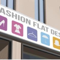 制作例壁面看板・暗闇でも目立つLED看板の衣料品店看板