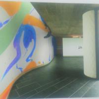 施工例美術館や博物館・記念館など大きな壁面を利用しグラフィックフィルムでオリジナルデザインで大空間をドラマティックに演出できます。