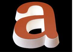 制作例カルプ文字の中でもより立体的に文字の存在感が協調されるシアーカット