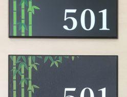 室名札 UV印刷 エンボス501号室